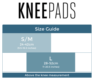 Kneepads size guide 2016
